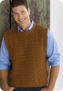 3d9214d5f84d Guy s Vest  Men s Crochet Sweaters - free patterns your guy will love!   crochet