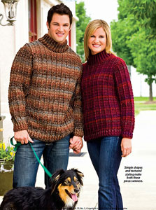 6694d60d6 ... His and Hers Outdoor Sweaters  Men s Crochet Sweaters - free patterns  your guy will love