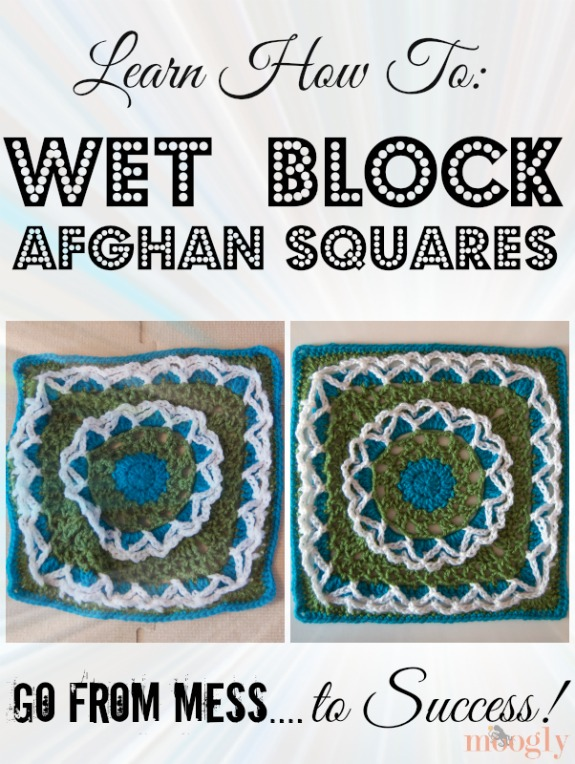 How to Wet Block Afghan Squares - it makes SO much difference in the finished projects! Learn how with this tutorial - it's way easier than you think!