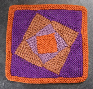 Hurrican Sandy Whirly Square: Free #Knit Afghan Square roundup on Moogly!