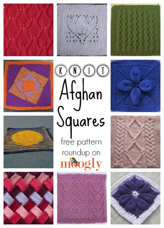 Free #Knit Afghan Square roundup on Moogly!