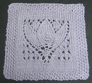 Margaret Tulip Square: Free #Knit Afghan Square roundup on Moogly!