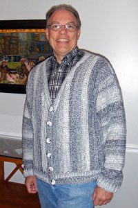 Men's Collage Cardigan: Men's Crochet Sweaters - free patterns your guy will love! #crochet