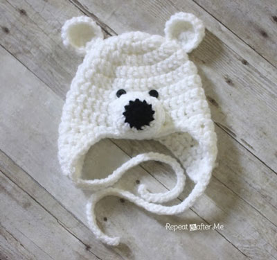 Polar Bear Hat by Repeat Crafter Me