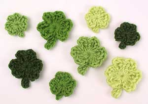 Celebrate the Luck of the Irish with free St. Patrick's Day Crochet Patterns! ♣ #crochet