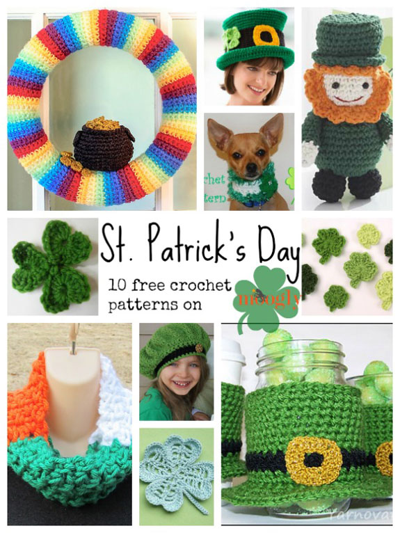 Free Crochet Pattern Of The Day : Celebrate the Luck of the Irish with 10 Free Crochet ...