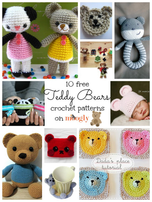 Free Crochet Bear Patterns - Amigurumi Patterns ⋆ DIY Make To | 765x575