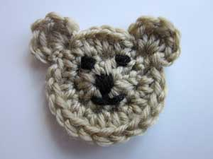 Crochet Teddy Bear Applique - Repeat Crafter Me | 225x300