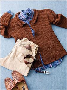 Tunisian Rib Stitch Zip Front Sweater: Men's Crochet Sweaters - free patterns your guy will love! #crochet