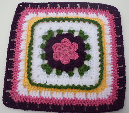 Veronica's Rose - Moogly Afghan CAL Block #4! Join in the year long CAL at Moogly and try a new block every 2 weeks!