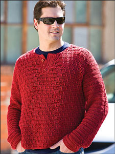 Wine Country Pullover: Men's Crochet Sweaters - free patterns your guy will love! #crochet
