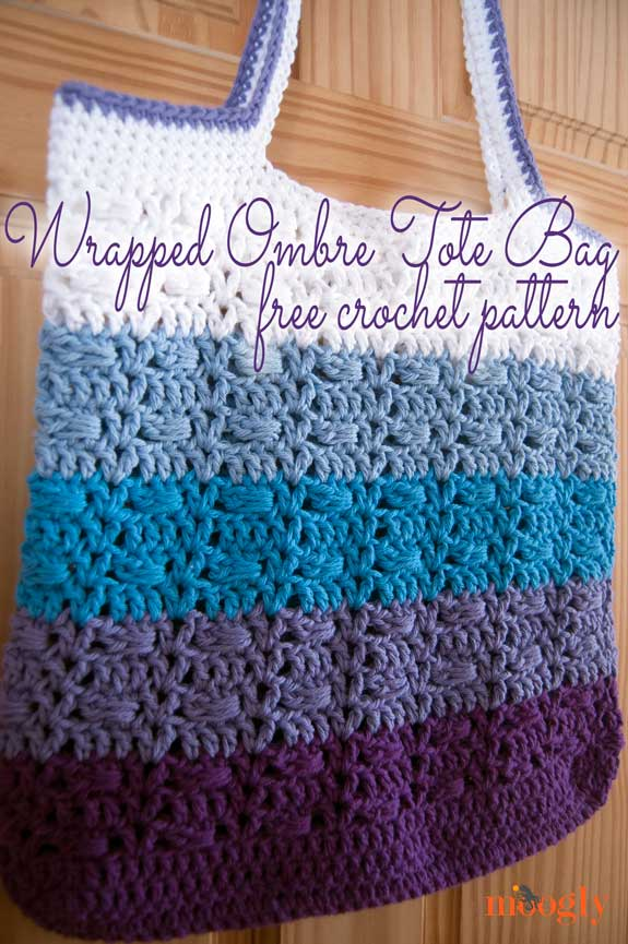 Wrapped Ombre Tote Bag Free Crochet Pattern On Moogly