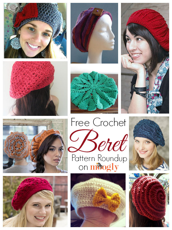 10 Free and Beautiful Beret Crochet Patterns - moogly