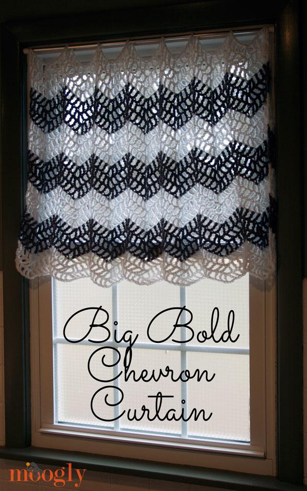 Free Crochet Pattern Big Bold Chevron Curtain