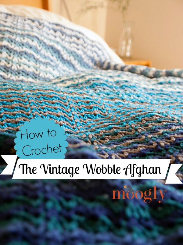 Learn how to crochet the Vintage Wobble Afghan stitch in this video tutorial! From mooglyblog.com