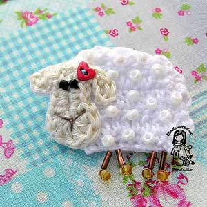 Ravelry: Crochet Sheep Coasters Pattern pattern by Monika