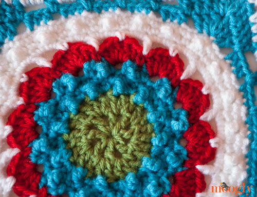 Lion's Mane Afghan Square - the first March square in the 2014 Moogly Afghan Crochet-a-Long!