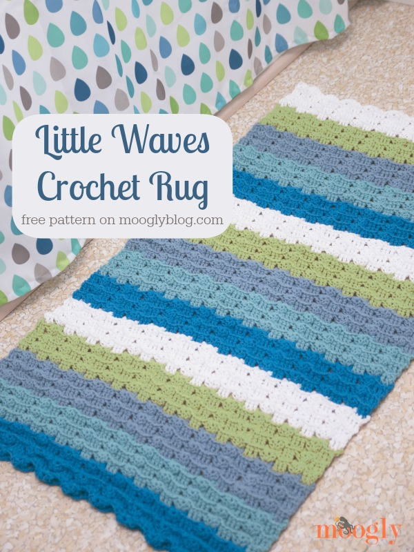 Little Waves Crochet Rug: Free #crochet pattern from mooglyblog.com