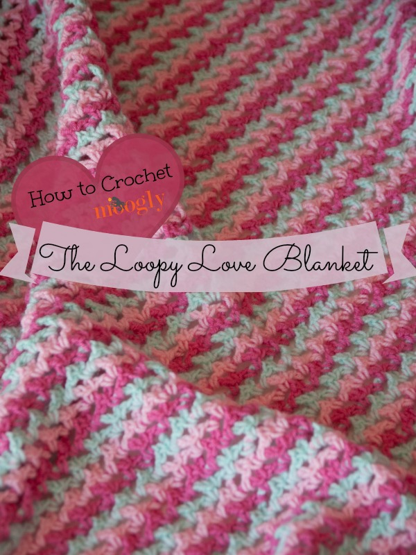 Learn how to #crochet this gorgeous stitch in the Loopy Love Blanket Tutorial! From mooglyblog.com