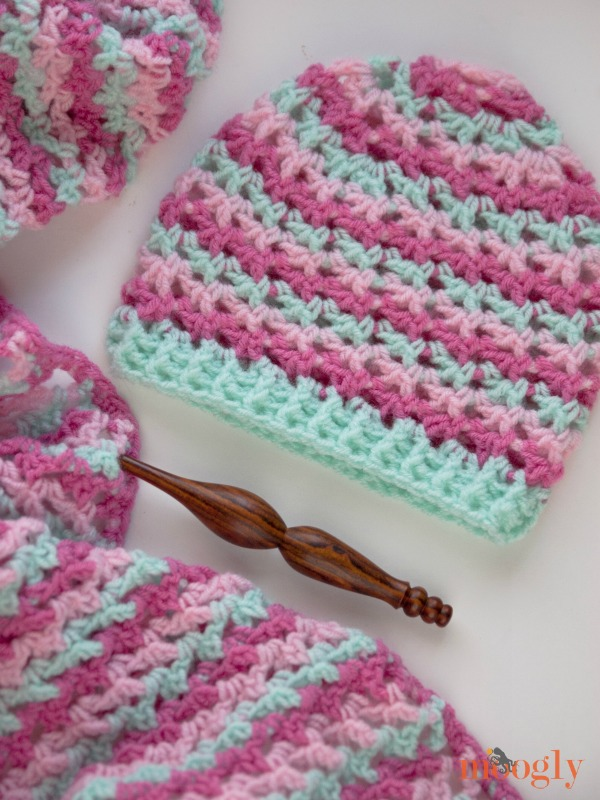 Crochet Stitches On Moogly : The Loopy Love Hat: Free #Crochet Pattern on Moogly!