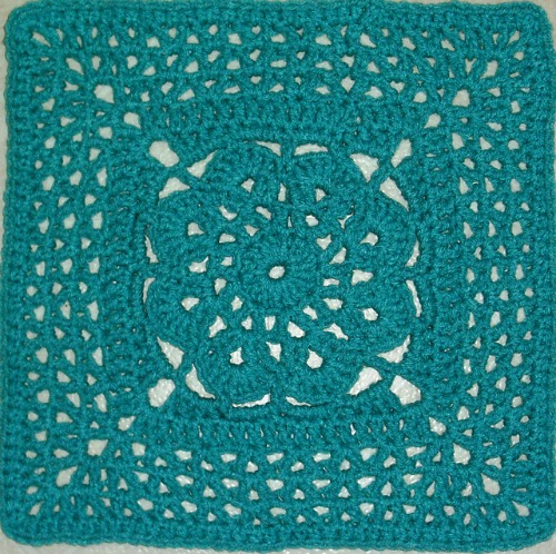 "More V's Please by Melinda Miller - 12"" afghan square, part of the Moogly 2014 Afghan CAL!"