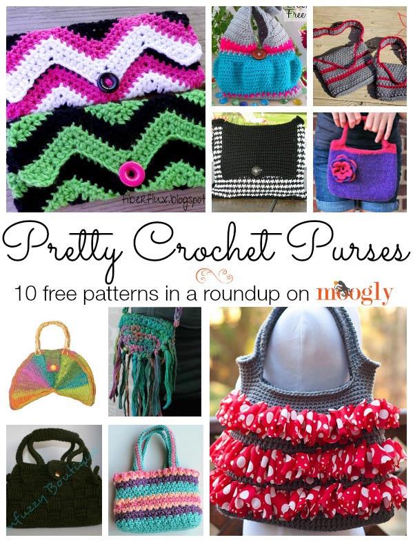 Pretty and Free! Crochet Purse Patterns Roundup From Mooglyblog.com