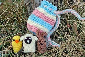 Spring Finger Puppets! Included in 10 Super cute patterns for #Crochet Sheep and Lambs! All free!