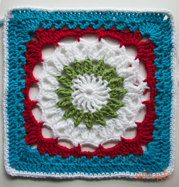 Join the Moogly Crochet-a-Long and  make the Drop in the Bucket square! A free #crochet pattern! From mooglyblog.com
