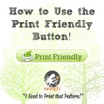 Learn how to use the Print Friendly button to print the free #crochet and #knit patterns on Moogly!