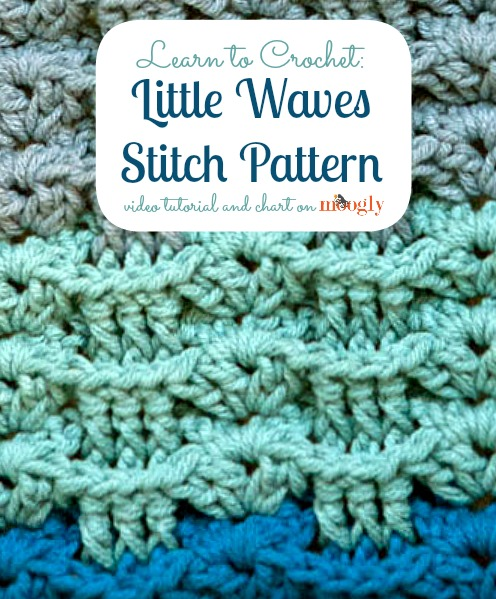 e093868e7c7509 Learn how to  crochet the Little Waves Stitch Pattern from Mooglyblog.com