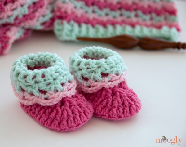 Free Crochet Pattern Loopy Love Newborn Baby Booties