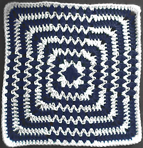 Op-Art Afghan Square: the latest block in the Moogly Afghan Crochet-a-Long!