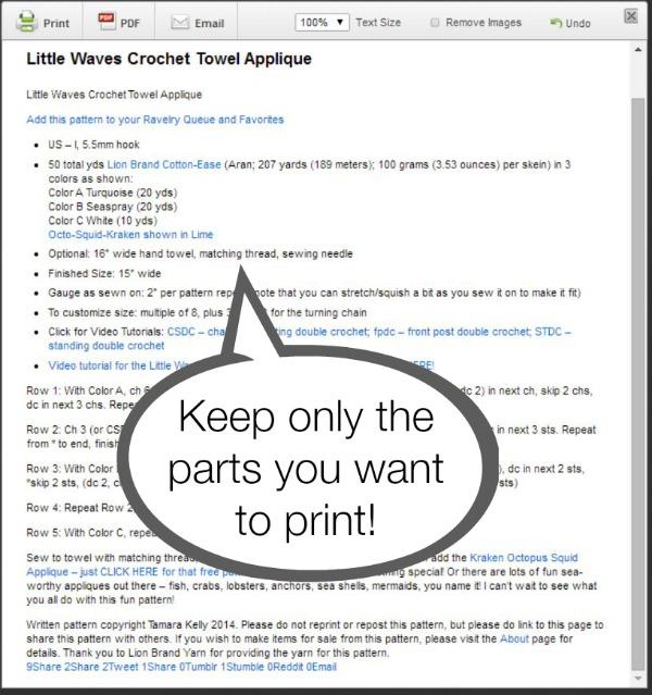 Print Friendly Delete Option