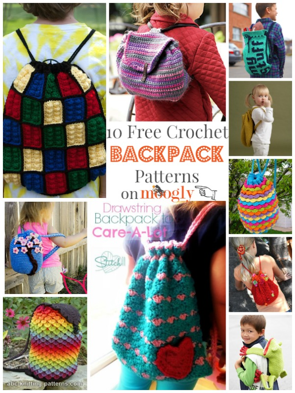Crochet Backpack Pattern : Love these #Crochet Backpacks - free patterns! From Mooglyblog.com