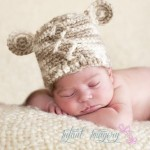 Diamond Bear Beanie - free pattern in both #knit and #crochet!