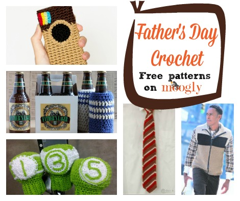 Free #Crochet Patterns for Father's Day! Get links to them all at Mooglyblog.com