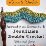 Increasing and Decreasing in Foundation Double Crochet