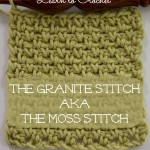 Granite Stitch or Moss Stitch