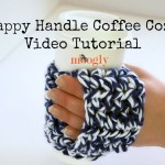 Happy Handle Coffee Cozy - Video Tutorial and Free #Crochet Pattern! From Mooglyblog.com
