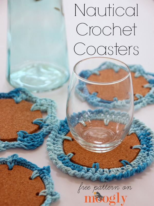 Crochet Patterns Nautical : Nautical Crochet Coasters! Four free #crochet patterns on Mooglyblog ...