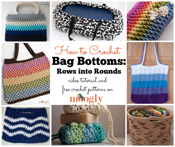 Learn how to make bottoms for all sort of bags - the easy way! Video tutorial and free #crochet patterns at Mooglyblog.com