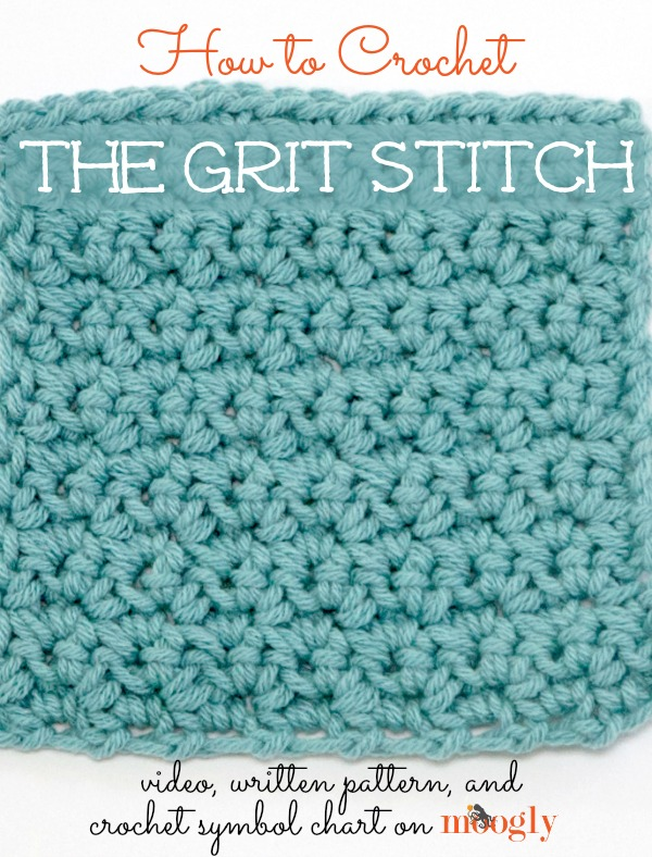 crochet the Grit Stitch! Video tutorial, written pattern, and crochet ...