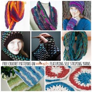 Fantastic Free #Crochet Patterns using Self Striping Yarn! From Mooglyblog.com