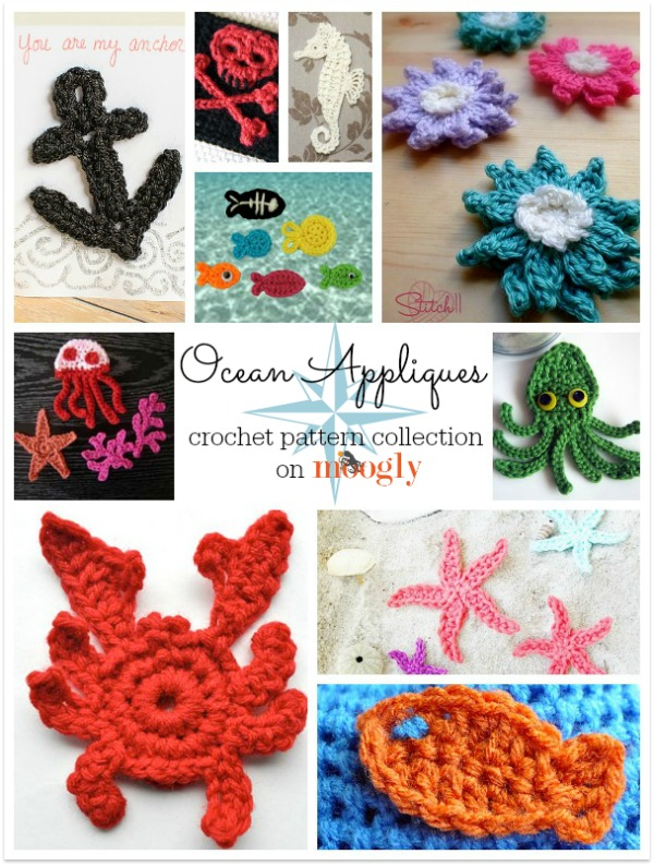ree Ocean Themed #Crochet Patterns - a special collection on Mooglyblog.com