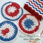 Stars and Stripes and Clusters Mini Mandala