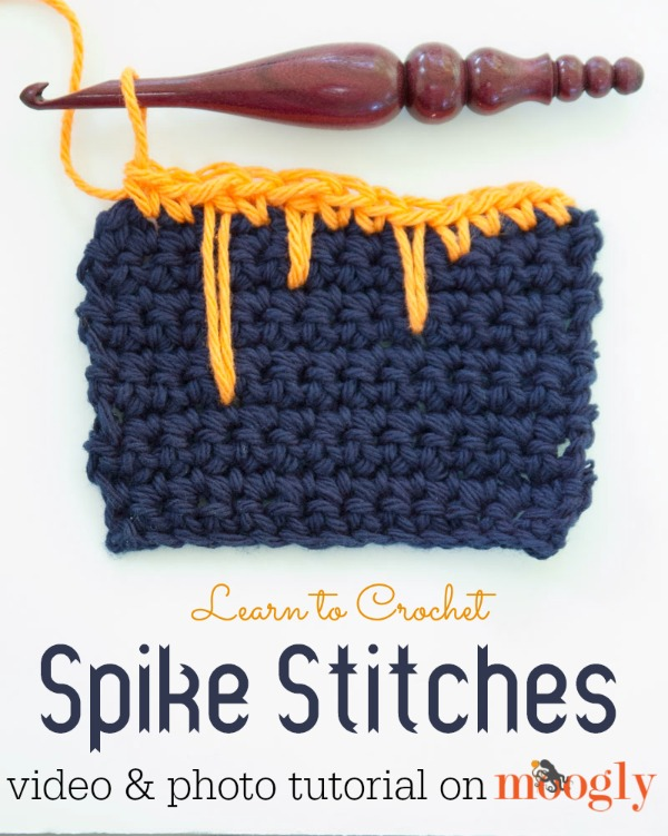 Crochet Stitches Video Tutorials : Learn to #crochet spike stitches - a video tutorial on Mooglyblog.com