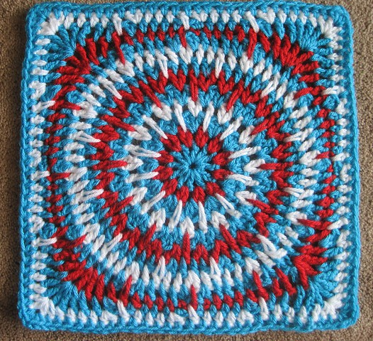 Spikey Circle Afghan Square - Block #13 in the Moogly Afghan Crochet-a-long!