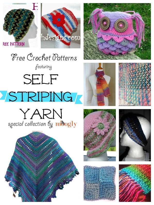 Fantastic Free Crochet Patterns For Self Striping Yarn On Moogly