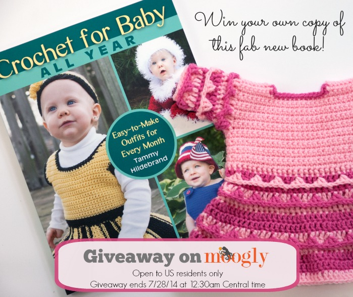 Win a copy of Crochet For Baby All Year by Tammy Hildebrand! Giveaway on Mooglyblog.com! Giveaway is open to US residents only, and ends 7/28/14 at 12:30am.