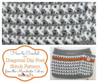 Diagonal Dip Post Stitch - free #crochet video tutorial on Mooglyblog.com!